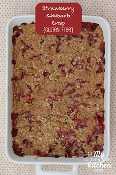 Strawberry Rhubarb Crisp {Gluten-free}   3/4 c white sugar - 15 servings = 5 points