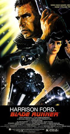 Directed by Ridley Scott.  With Harrison Ford, Rutger Hauer, Sean Young, Edward James Olmos. A blade runner must pursue and try to terminate four replicants who stole a ship in space and have returned to Earth to find their creator.