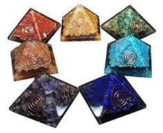 Orgone Energy 7pc Chakra Pyramid Harmonizing Set with Pendant and Mini Pocket Dome *** Check this awesome product by going to the link at the image. (This is an affiliate link and I receive a commission for the sales)