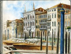 Venise, le Grand Canal / Venice Aquarelle / watercolor - Mars 2017