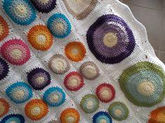 couverture AT au crochet coton DROPS PARIS ma création