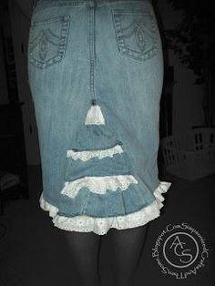 DIY Clothes DIY Refashion DIY Jean Skirt