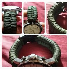 paracord watch strap #paracord #analog #watchstrap #watch
