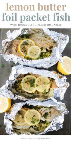 Cod Fish Recipes, Grilled Fish Recipes, Halibut Recipes, White Fish Recipes, Foil Packet Recipes, Foil Packet Dinners, Foil Pack Meals, Fish In Foil Packets, Grilled Foil Packets