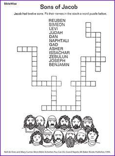 Sons of Jacob (Puzzle) - Kids Korner - BibleWise