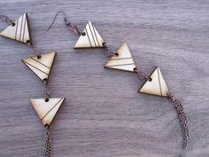 Striped Triangle Earrings - super sleek and modern!