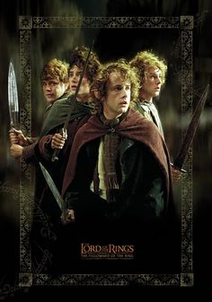 Sam, Frodo, Pippin and Merry