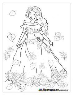 Planse cu ZANA TOAMNA - Imagini de colorat | Fise de lucru - gradinita Fall Coloring Pages, Coloring Pages For Boys, Christmas Coloring Pages, Animal Coloring Pages, Coloring Pages To Print, Coloring Books, Drawing For Kids, Art For Kids, Crafts For Kids