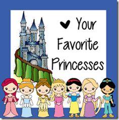 Preschool Disney Princess Pack from 123 Homeschool 4 Me