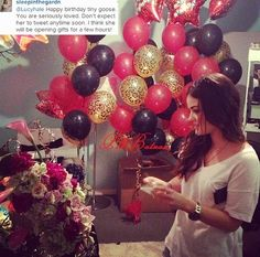 Lucy in her dressing room on her Birthday on the set of 4x09