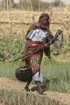 Chad food crisis: Getting water in a market garden by Oxfam International, via Flickr