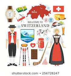 Find Welcome Switzerland Travel Collection stock images in HD and millions of other royalty-free stock photos, illustrations and vectors in the Shutterstock collection. Thousands of new, high-quality pictures added every day. Map Of Switzerland, Cultures Du Monde, Travel Doodles, Cultural Crafts, Creative Activities, Learning Activities, Kids Learning, Watercolor Journal, Swiss Alps
