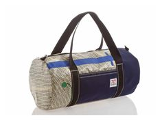 Travel bag in recycled sailcloth