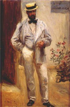 Pierre-Auguste Renoir (French 1841–1919) [Impressionism] Charles le Coeur, 1874. Musée d'Orsay, Paris, France.