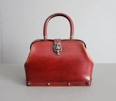 1960s vintage redwood Etienne Aigner handbag