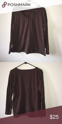Long sleeve brown shirt Long sleeve. Brown. Tops Tees - Long Sleeve
