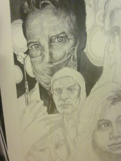 part of my kingdom hospital drawing, almost done with dr hook
