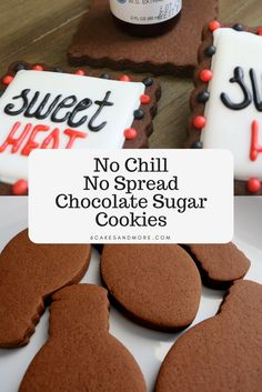 No Chill No Spread Chocolate Sugar Cookies No Chill No Spread Choc. - beauty - No Chill No Spread Chocolate Sugar Cookies No Chill No Spread Chocolate Sugar Cookies - Chocolate Sugar Cookie Recipe, Cut Out Cookie Recipe, Cut Out Cookies, Sugar Cookies Recipe, Yummy Cookies, Chocolate Cookies, No Spread Sugar Cookie Recipe, Chocolate Christmas Cookies, Sugar Cookie Icing