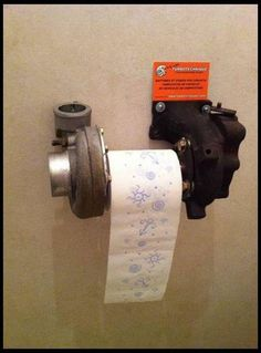 Turbo toilet paper holder... Definitely going in the man cave/garage bathroom