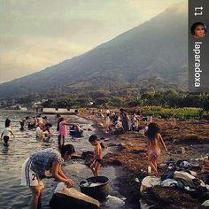 #Follow @laparadoxa: Moms working children playing - Just a normal afternoon at #SanPedroLaLaguna #Lake #Atitlan #Guatemala #ILoveAtitlan #AmoAtitlan #Travel #Volcano #LakeAtitlan #LagoAtitlan by okatitlan
