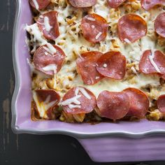 Recipe: Pasta Pizza Casserole