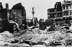 The Aftermath of the Warsaw Uprising in 1944. The Old Town lays in ruins.