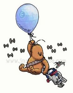 Winnie the Pooh Meets Han and Chewie from artist James Hance.