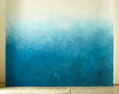 yourself with an ombre wall. Reward yourself with an ombre wall.Reward yourself with an ombre wall. Diy Wall, Wall Art, Wall Murals, Diy Ombre, Blue Ombre, White Ombre, Paint Effects, Diy Painting, Painting Furniture