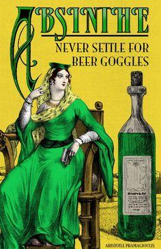 Absinthe Vintage Poster Art Print: