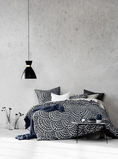 Finca Quilt Cover Set in Greystone, AURA Home, SS17-18