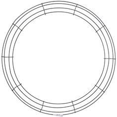 "Panacea Wire Wreath Frame-20 - 20"" 20"""