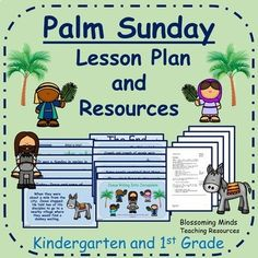 Kindergarten and Grade Easter Lesson Plan and PowerPoint : Palm Sunday Palm Sunday Story, Palm Sunday Lesson, Drama Activities, Sunday Activities, Prayers For Children, Kindergarten Class, Beach Kids, Bible Crafts, Lessons For Kids