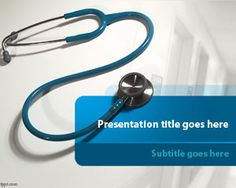 Free Stethoscope PowerPoint Template is a free presentation design and background for doctors and healthcare professionals #medical #powerpoint #background #templates #free #download