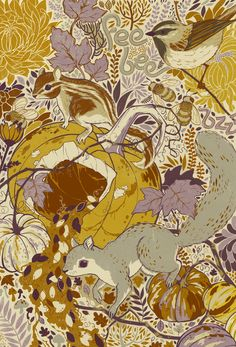 The Four Seasons by Teagan White, via Behance