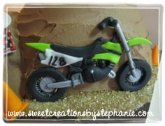Motocross Bike Cut Out By Hand With Royal Icing Accents cakepins.com
