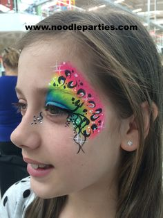 Girls eye design Noodle Face Painting Gallery | Noodle Parties