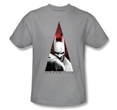 Batman T-Shirt Arkham City Bat Triangle Adult Silver Tee Batman Shirts Arkham City This Batman T-Shirt Arkham City Bat Triangle Adult Silver Tee Shirt Batman Arkham City, Batman Shirt, Batman Birthday, Tee Shirts, Tees, Triangle, Mens Tops, Bat Man, Dark Knight