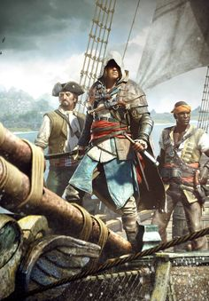 Fighting like the Devil, Dressed like a Man Asasin Creed, All Assassin's Creed, Creed Game, Assassins Creed Series, Assassins Creed Black Flag, Saga, Edwards Kenway, Jackdaw, Videos