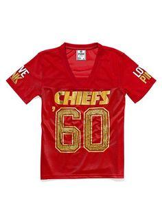 f55d11115ff Victoria Secret Pink NFL Jersey. Love my Kansas City Chiefs Football Love