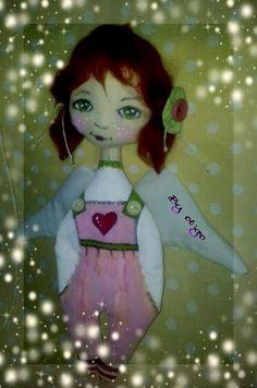 cloth doll /anjel v nohaviciach/
