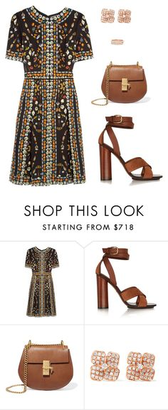 """""""Sans titre #3344"""" by mounia098 ❤ liked on Polyvore featuring Alexander McQueen, Gucci, Chloé, Anita Ko and Repossi"""
