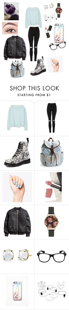 """Sans titre #24"" by anastasiasphoto ❤ liked on Polyvore featuring J Brand, Topshop, Dr. Martens, Aéropostale, Sigma, Olivia Burton, Irene Neuwirth and Free People"