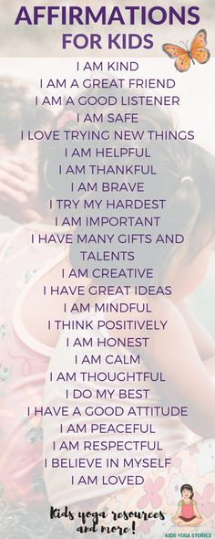 Promoting positivity, mindfulness and a growth mindset. Use these statements with your kids and see how much it makes a difference. Kids Yoga Stories for kids Mindfulness In Schools, Mindfulness Exercises, Mindfulness For Kids, Mindfulness Activities, Mindfulness Meditation, Mindfullness Activities For Kids, Mindfulness Practice, Mindful Activities For Kids, Meditation Music