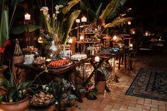 decoração de mesa casamento rústico