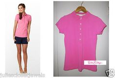 *PERFECT* Lilly Pulitzer Chic Pique Polo Short Sleeve Shirt     - Orchid Pink Soft    Material: Cotton/Stretch Blend    Women's Size: Medium