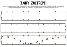 Looking for a Printable Zoetrope Template. We have Printable Zoetrope Template and the other about Printable Diagram it free. Animation Classes, Animation Tools, 5th Grade Art, Summer Art, Design Projects, Art Projects, Book Making, Pictures To Draw, Good Company