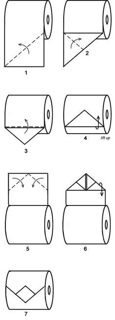Toilet Paper Origami Diamond