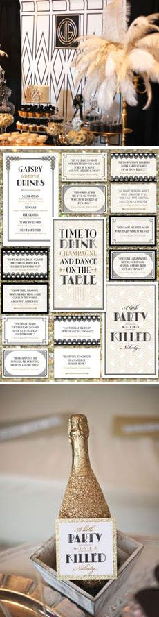 Gatsby Birthday Party by I Heart to Party #gatsby #gatsbyparty #gatsbybirthdayparty #gatsbytheme #roaringtwenties