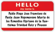 Hispanic Names: information about naming customs and lists of common names, even some nicknames