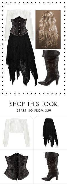 """Pirate costume"" by amymcwray ❤ liked on Polyvore featuring Elizabeth and James, Manolo Blahnik and plus size clothing"
